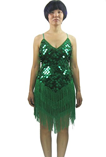 Come Dance With Us Costume (Whitewed Roaring 20s 20's Latin Ballroom Style Dance Dress Costumes Green)