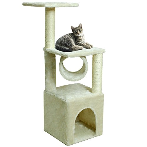 Hot Sale! 36'' Deluxe Cat Tree Condo Furniture Scratching Post Kitten Pet Play W/Toy House by Polar Bear's Pet