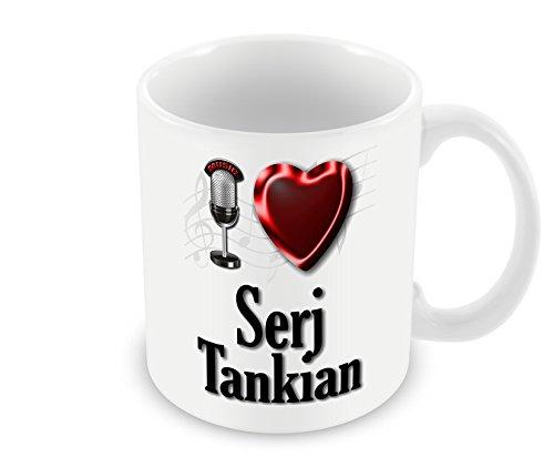 Chalkhill Printing Company CP PopMale_424 Pop Artist Mug (Male) -I Love Serj Tankian
