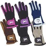 Ovation Kids Hearts & Horses Riding Gloves - Size:B