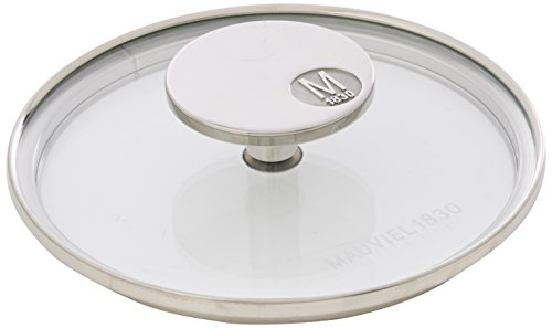 Mauviel Made In France M'360 5318.14 5.5-Inch Glass Lid with Cast Stainless Steel