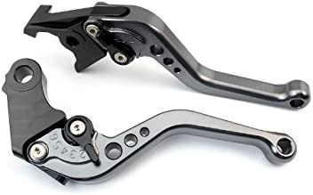 A pair of Short Billet Aluminum Clutch & Brake Levers Motorcycle Set Gray for Yamaha YZF