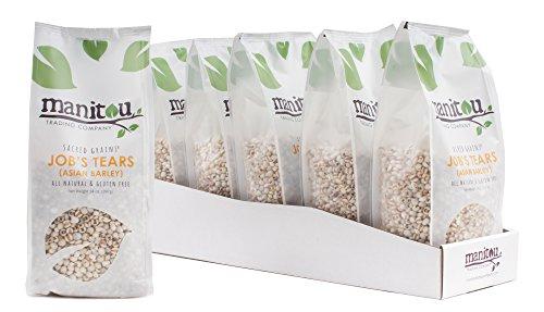Manitou Trading Company Job's Tears (Asian Barley), 14-Ounce 6 Pack Sleeve