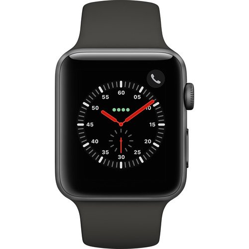 Apple Watch Series 3 - GPS+Cellular - Space Gray Aluminum Case with Gray Sport Band - 42mm