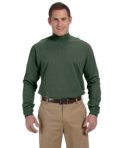 DJ MENS SUEDED MOCK TURTLENECK (FOREST) (XL) ()