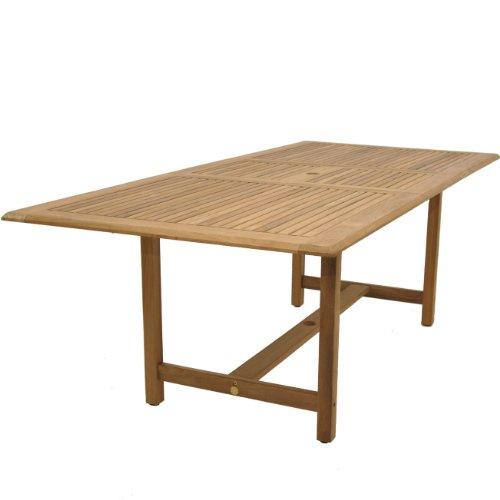 عروض Amazonia Teak Boise 9-Piece Teak/Wicker Extendable Rectangular Dining Set with Grey Cushions