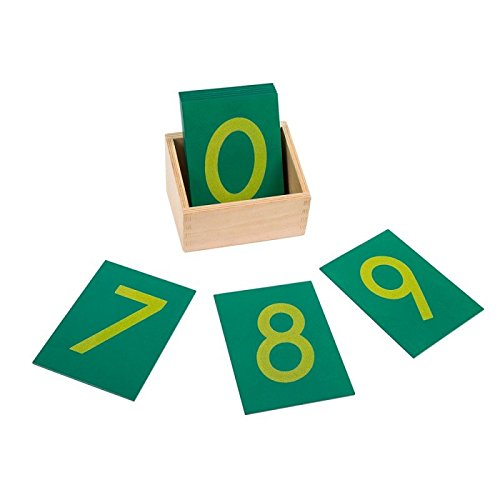 Montessori Mathematics Sandpaper Numbers with Box