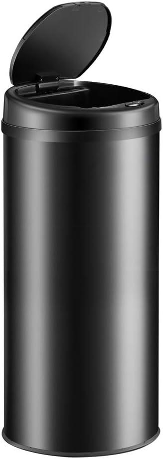 Deuba Sensor Abfalleimer 40L Automatischer Mülleimer LED Anzeige Müllbehälter berührungslos Bewegungssensor wasserdicht