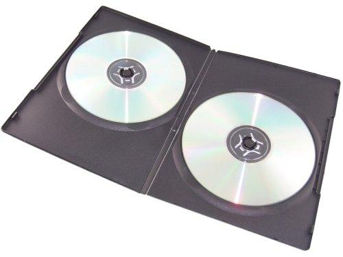 100 SLIM Black Double DVD Cases 7MM
