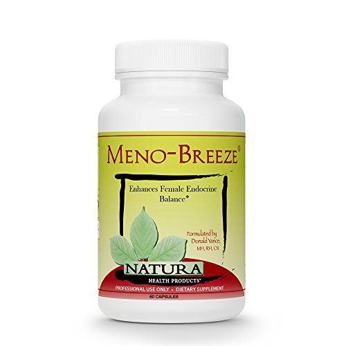 Meno-Breeze Black Cohosh Menopause Complex for Women by Natura Health Products - Night Sweats, Mood Swings, Occasional Sleeplessness, and Hot Flashes Menopause Relief - 60 ()