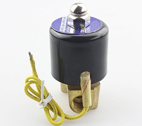 Akent DC12V Electric Solenoid Valve NPT, Brass, Normally Closed (Propane Solenoid Valve)