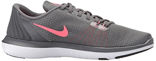 NIKE Womens Flex Supreme TR 5 Wide Shoes Grey HOT Punch White Black Size 8 by NIKE (Image #7)
