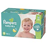Pampers Baby Dry Disposable Diapers, Size 6,144 Count, ONE MONTH SUPPLY