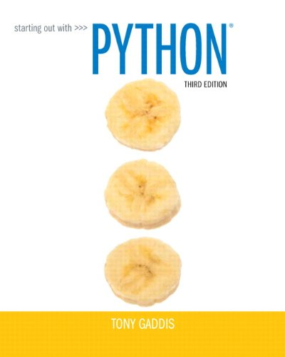 Starting Out with Python (3rd Edition) cover