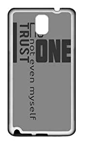 Quotes Sayings 3 Custom TPU Soft back Case for Samsung Galaxy Note 3 / Note III / N9000 White