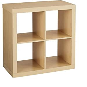 Better Homes And Gardens Bookshelf Square Storage Cabinet 4 Cube Organizer Birch