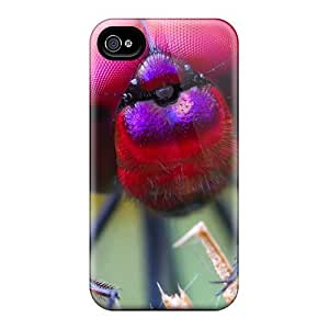 BrJ5448znnr TianMao Awesome Case Cover Compatible With Iphone 4/4s - Close Up Of A Fly