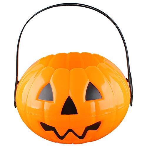 Plastic Pumpkin Bucket Halloween Pumpkin Basket for Trick or Treat Candy Bucket Pumpkin Halloween Costume Toddler Orange