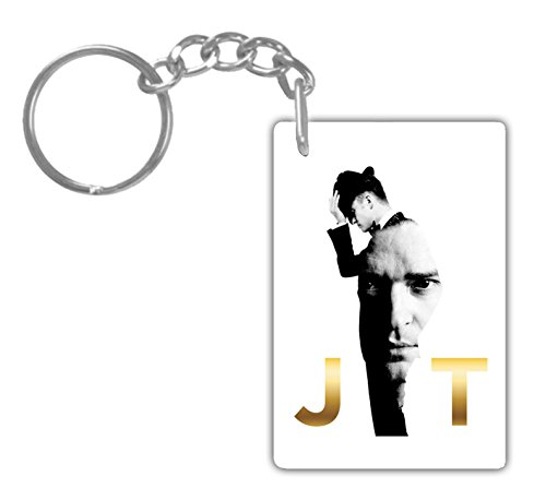 JUSTIN TIMBERLAKE#2 Aluminum Rectangle plate Keychain (1-Sided) Includes key - Justin 2