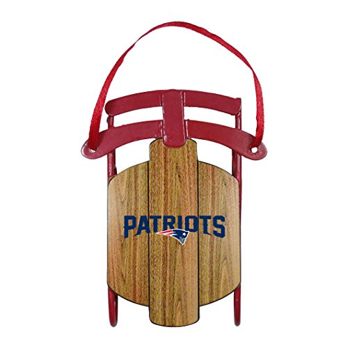 NFL New England Patriots Metal Sled Ornament