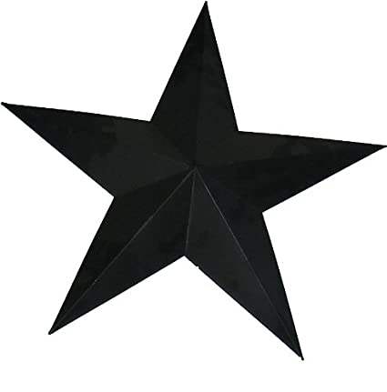Amazon.com: Craft Outlet Tin Star Wall Decor, 36-Inch, Black: Home ...