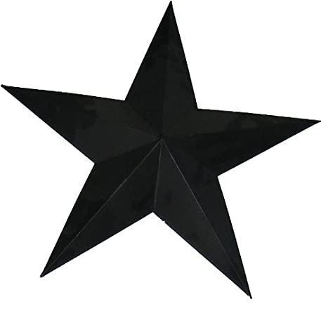Amazon.com: Craft Outlet Tin Star Wall Decor, 24-Inch, Black: Home ...