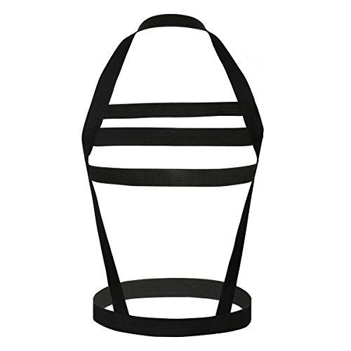 iiniim Men's Strong Nylon Elastic Straps Brace Body Chest Harness Black #1 One -