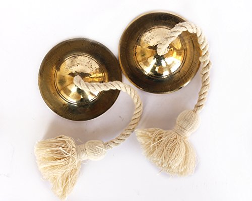 De Kulture Works Hand Made Brass Manjeera Percussion Instrument/Finger Cymbal/Metal Clapper by De Kulture Works