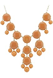 Color Bubble BIB Statement Fashion Necklace - Orange