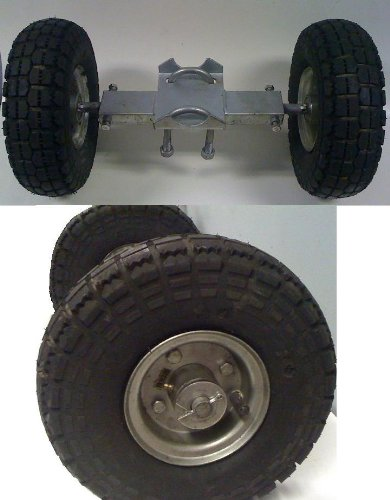 Rolling Gate Wheel Carrier, Heavy Duty Pneumatic, Rut Runner, Chain link Gate