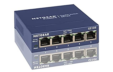 NETGEAR 5-Port Gigabit Ethernet Unmanaged Switch : Very high quality