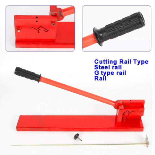 Din Rail Cutter Tool, Manual Guide Cutting Machine Professional Cutter Tools DIY Two Groove for Rail, Steel Rail, G Type Rail by MONIPA (Image #2)