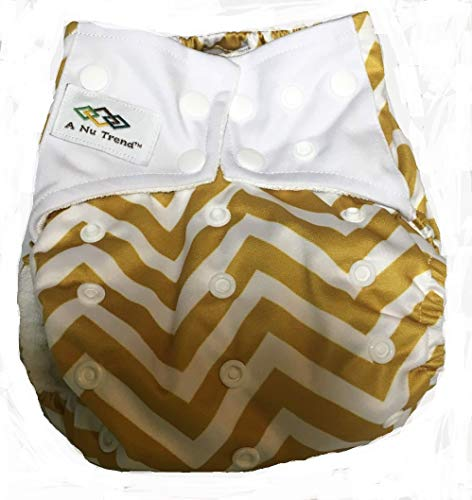 A Nu Trend EMF Shielding Cloth Diaper Bundle Pack (5) Gold or Grey Unisex-  Moisture Wicking Properties for 5G