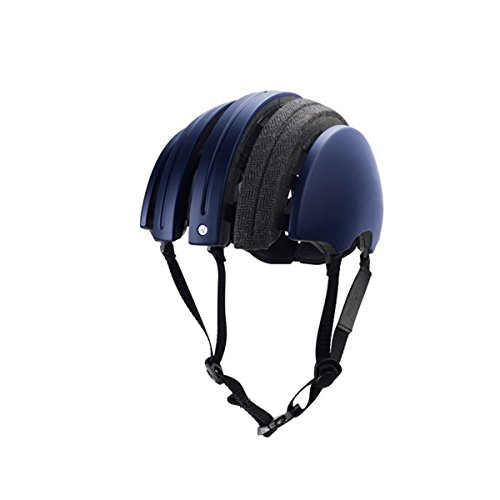 Brooks J.B. Special Carrera Foldable Bicycle Helmet (Dark Blue / Grey – XL)