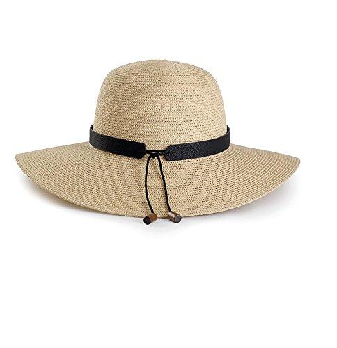 HONEY Cappello Da Spiaggia Cappello Di Paglia Delle Donne Estate Big Brim Le  Vacanze Cappello Da Sole ( Colore   Beige )  Amazon.it  Giardino e  giardinaggio 4ba8185b3391