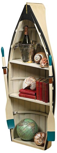Dory Bookshelf and Table with Glass - Barrister Wood Frame