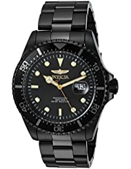 Invicta Mens Pro Diver Quartz Stainless Steel Diving Watch, Color:Black (Model: 23402)