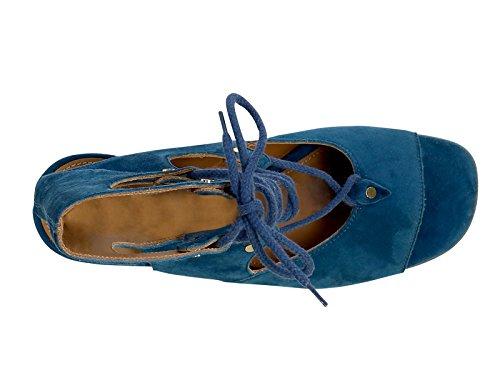 Sandales Suède Chloé Femme CH24522717 Bleu qfIRF