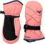 Roxy Little Girls' Jetty Solid Snow Mitt Gloves, Shell Pink, S