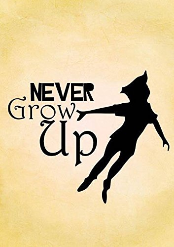 Amazoncom Never Grow Up Peter Pan Decal Vinyl Stickercars Trucks