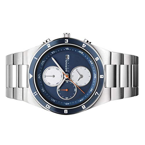BERING Time 34440-708 Mens Solar Collection Watch with Stainless Steel Band and Scratch Resistant Sapphire Crystal. Designed in Denmark.