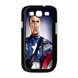Custom Design ZH-1 Movie Captain America Black Print Hard Shell Case for Samsung Galaxy S3 I9300