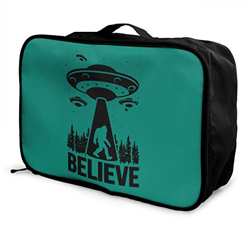 Bigfoot Alien Lightweight Large Capacity Portable Luggage Bag Fashion Travel Duffel Bag