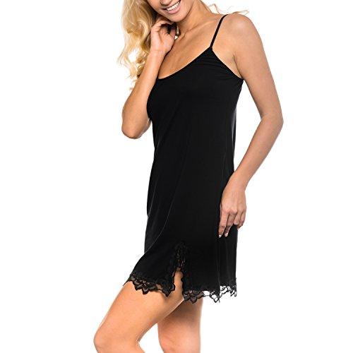 MILA - camisón para mujer de la Sophie Bernard Colección. Feel at ease! negro