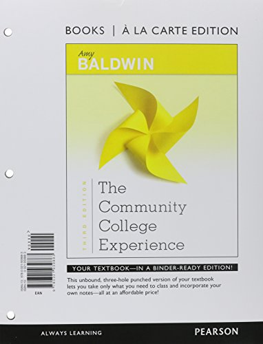 Community College Experience, The, Student Value Edition (3rd Edition)