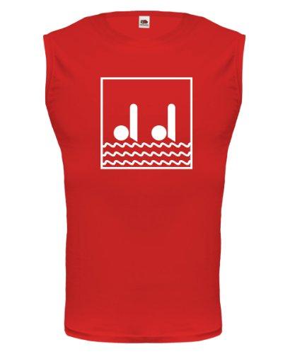 buXsbaum Tank Top Synchronized Swimming-Pictogram-XXL-Red-White (Schwimmen-trikots)