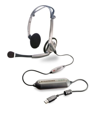 Plantronics DSP-400 Digitally-Enhanced USB Foldable Stereo Headset and Software