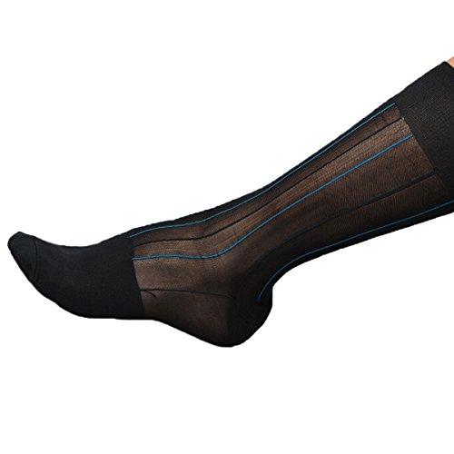 Nanxson(TM) Men's Business Silk Dress Socks WZMD0004 (Sheer Socks Men)