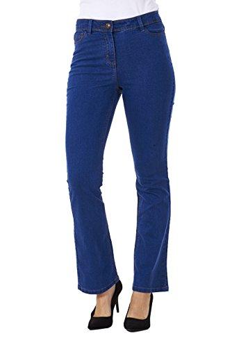 Jean bootcut - jambes vases/stretch - femme - denim bleu