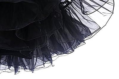 Ellames Women's Vintage 50s Rockabilly Tutu Skirt Short Petticoat